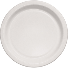 Bare Eco-Forward Clay-Coated Paper Plates, 8.5