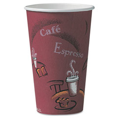 Bistro Design Paper Hot Drink Cups - (300) 16 oz. Cups SCCOF16BI