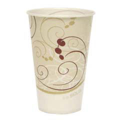 Waxed Paper Cold Cups, 12 oz., Symphony Design, 100/Bag SCCR12NSYM