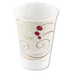 Waxed Paper Cold Cups, 7 oz., Symphony Design, 100/Bag SCCR7NSYM