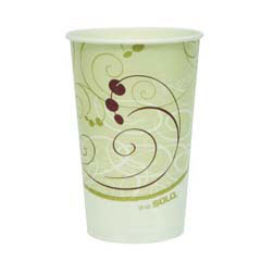 Paper Cold Cups, 16 oz., Symphony Design, 50/Bag SCCRP16PSYM