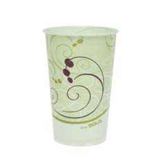 Waxed Paper Cold Cups, 16 oz., Symphony Design, 50/Bag SCCRW16SYM