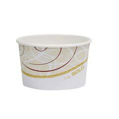 Symphony Double Poly Paper Food Containers, Symphony, 5oz SCCS605TSYM