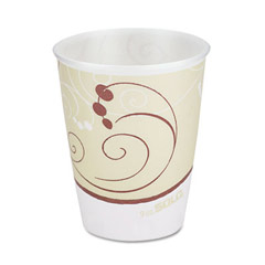 Symphony Design Trophy Foam Hot/Cold Drink Cups, Wrapped, 9 oz Beige SCCWX9J