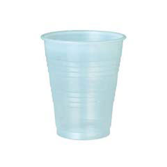 Galaxy Plastic Cups, 9 oz., Translucent, Individually Wrapped, 100/Bag SCCY9LT