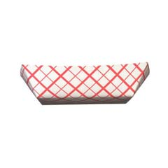 Paper Food Baskets, 1lb, Red/White SCH0413