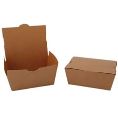 ChampPak Carryout Boxes, 4lb, 7 3/4w x 5 1/2d x 3 1/2h, Brown SCH0734
