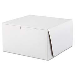 Tuck-Top Bakery Boxes, 10w x 10d x 5 1/2h, White SCH0977