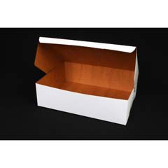 Tuck-Top Bakery Boxes, 14w x 10d x 4h, White SCH1025