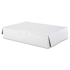 Tuck-Top Bakery Boxes, 19w x 14d x 4h, White SCH1029