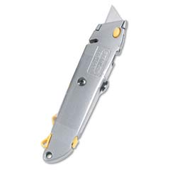 Quick-Change Utility Knife w/Retractable Blade & Twine Cutter, Silver BST10-499