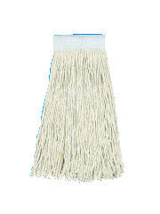 Cut-End Saddleback Wet Mop Head, Cotton Fiber - (12) 24 oz. Heads BWK324C