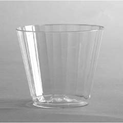 Classic Crystal Plastic Tumblers, 9 oz., Clear, Fluted, Squat, 12/Pack WNACC9240
