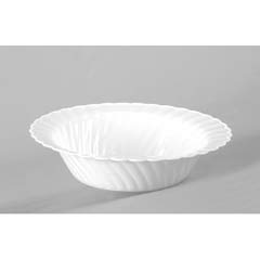 Classicware Plastic Bowls, 10 Ounces, White, Round, 10/Pack WNACWB10180W