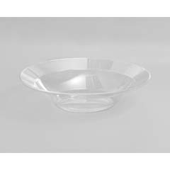 Designerware Plastic Bowls, 10 Ounces, Clear, Round, 10/Pack WNADWB10180