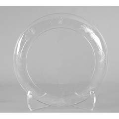 Designerware Plastic Plates, 6 Inches, Clear, Round, 10/Pack WNADWP6180