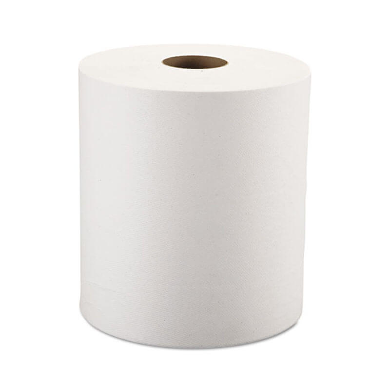 Nonperforated Paper Towel Roll, One-Ply, White, 8 x 800' WIN1290-6