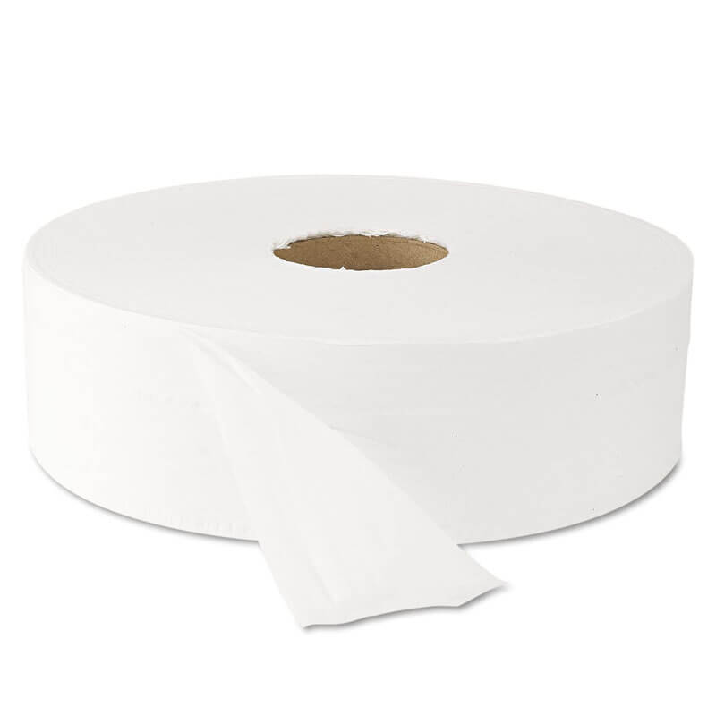 White Jumbo Roll Bath Tissue, 9