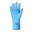 Fishscale-Grip Latex Gloves, Sky Blue, Small ANS255-7