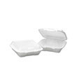 Snap-it Foam Hinged Lid Containers, 3-Comp, 9.25 x 9.25 x 3, White BWK0101