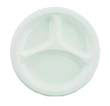Plastic Plates, 10 Inches, White, Round, 3 Compartments, 125/Pack BWK1025IMPACT3C