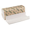 Green Folded Towels, C-Fold, Natural White, 10 1/8W x 13L BWK11GREEN