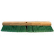 "Push Broom Head, 3"" Green Flagged Recycled PET Plastic, 18"" BWK20718"