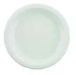 Plastic Plates, 9 Inches, White, Round, 125/Pack BWK9IMPACT