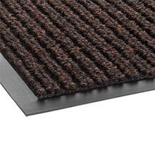 Needle Rib Wipe & Scrape Mat, Polypropylene, 48 x 72, Brown CRONR46BRO