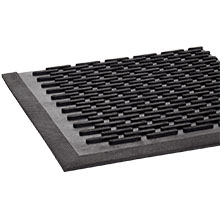 Crown-Tred Indoor/Outdoor Scraper Mat, Rubber, 44.5 x 67.75 CROTD46BLA