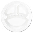"Concorde Foam Plate, 3-Compartment, 10 1/4"", White DCC10CPWC"