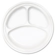 "Famous Service Dinnerware, 3-Compartment Plate, 10 1/4"", White DCC10CPWF"