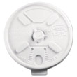 Lift N' Lock Plastic Hot Cup Lids, Fits 10-oz. Cups, White DCC10FTL