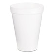 Drink Foam Cups, 12 oz, White DCC12J16