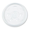 Plastic Lids, for 12-oz. Hot/Cold Foam Cups, Slip-Thru Lid, White DCC12SL