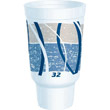 Impulse Hot/Cold Foam Drinking Cup, 32oz, Flush Fill, Printed, Blue/Gray, 16/Bag DCC32AJ20E
