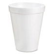 Drink Foam Cups, 6 oz, White DCC6J6