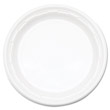"Famous Service Plastic Dinnerware, Plate, 6"", White DCC6PWF"
