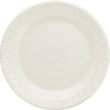 Foam Plastic Plates, 6 Inches, White, Round, 125/Pack DCC6PWQ