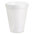 Drink Foam Cups, 8 oz, White DCC8J8