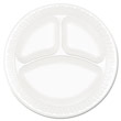 "Concorde Foam Plate, 3-Compartment, 9"", White DCC9CPWC"
