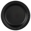 Laminated Foam Plastic Plates, 9in, Black, Round, 125/Pack DCC9PBQ