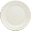 Foam Plastic Plates, 9 Inches, White, Round, 125/Pack DCC9PWQ