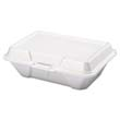 Foam Hinged Carryout Container, Deep, 9-1/5 x 6-1/2 x 3, White, 100/Bag GNP20500