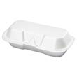 Foam Hot Dog Hinged Container, 7-3/8 x 3-9/16 x 2-1/4, White, 125/Bag GNP21100