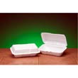 Foam Hoagie Hinged Container, Large, White, 9-1/2x5-1/4x3-1/2, 100/Bag GNP21900