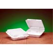 Foam High Volume Hinged Container, 3-Compartment, 9x9-1/4x3, White, 100/Bag GNP23300