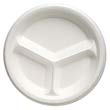 "Celebrity Foam Dinnerware, 10.25"", 3-C Plate, White GNP81300"