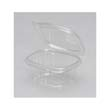 Plastic Hinged-Lid Deli Containers, Clear, 6oz, 4.25w x 3.63d x 1.88h, 100/Pack GNPAD06
