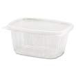 Clear Hinged Deli Container, Plastic, 16 oz, 5-3/8 x 4-1/2 x 2-5/8, 100/Bag GNPAD16